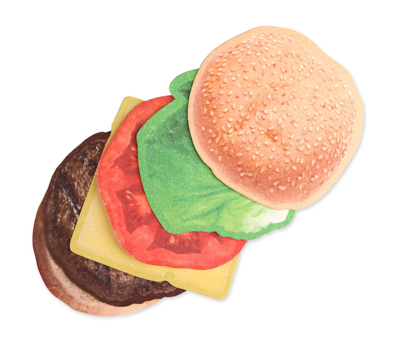 Burger Coasters, Set of 6