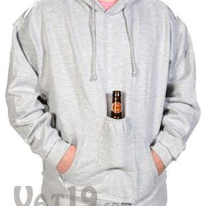 Beer Pouch Sweatshirt with Hood