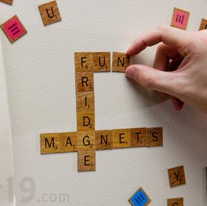 SCRABBLE® Magnetic Refrigerator Tiles